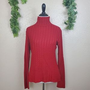 Dana Buchman button up knit turtleneck sweater